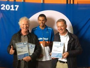 Strandmanager, Kiran Badjoe een talentvolle windsurfer en de voorzitter