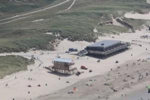 Strandslag Julianadorp vanuit de lucht