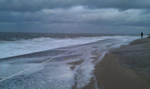 28 oktober Storm op strand