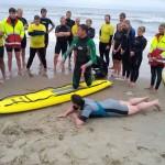 Training-strandwachten-Foamball